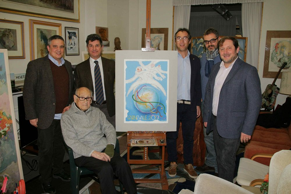 Il Tirreno, i poster del carnevale… e una sorpresa firmata Michetti