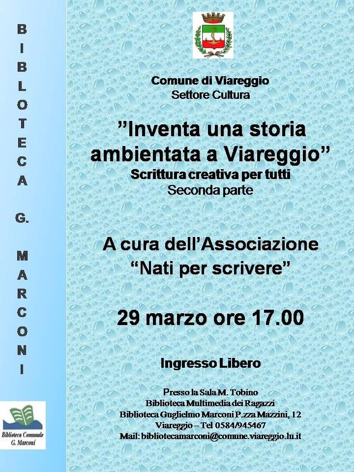 """""""Come scrivere una storia ambientata a Viareggio"""", incontro di scrittura creativa"""