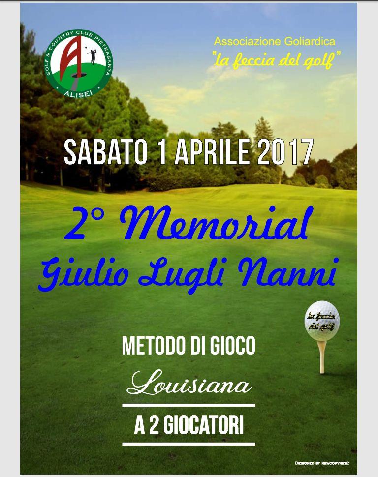 Gara golfistica in memoria di Giulio Lugli Nanni