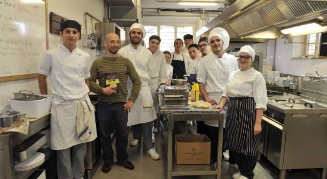 I ragazzi dell'Isi Marconi incontrano lo chef-scrittore Leonardo Lucarelli