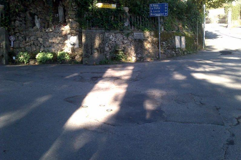 foto zona lavori via montebello