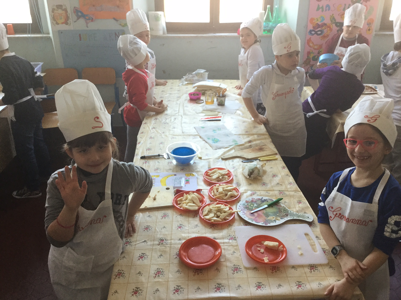 Chef in erba alla scuola primaria Puccini di Torre del Lago