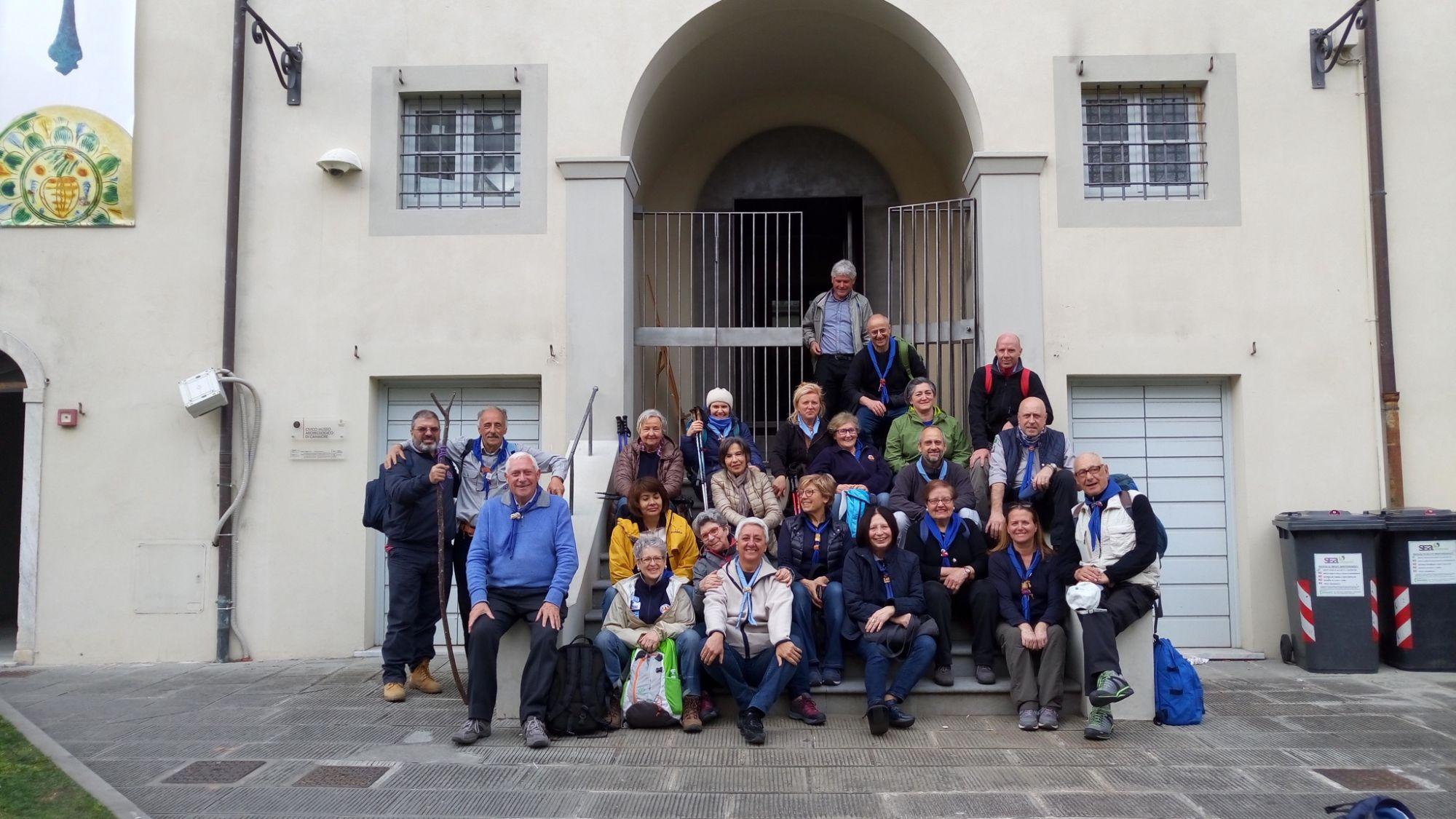 Movimento adulti scout italiano al Museo Archeologico di Camaiore