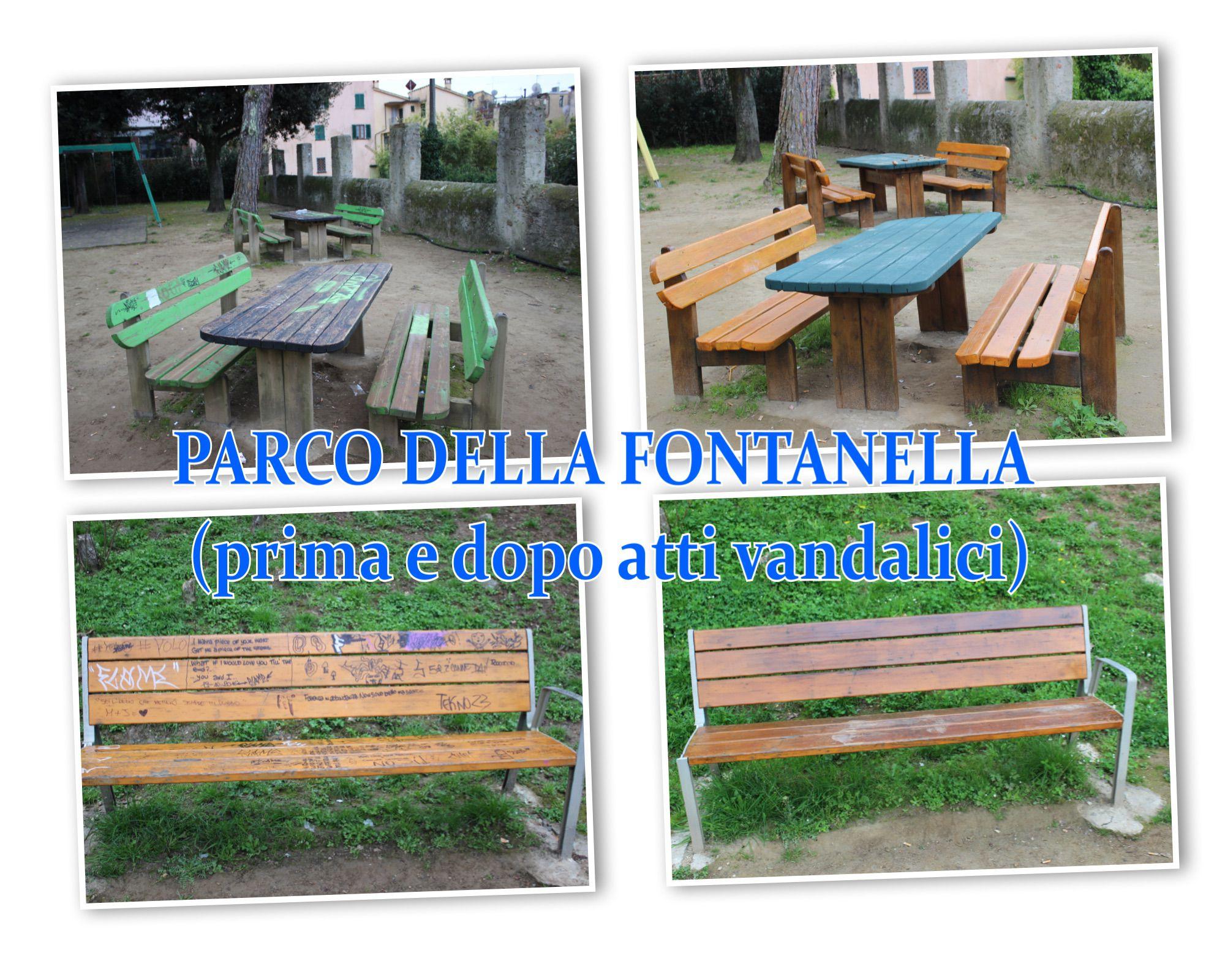 Parco della Fontanella, pulizia e videosorveglianza dopo altri atti vandalici