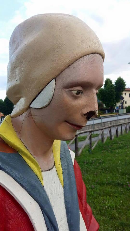 Vandalizzata la scultura di Giovanni da Monreale allo Skate Park, pugno duro del Comune