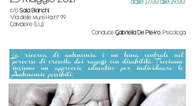 """Seminario """"Educare all'autonomia"""" per la crescita dei ragazzi con disabilità"""