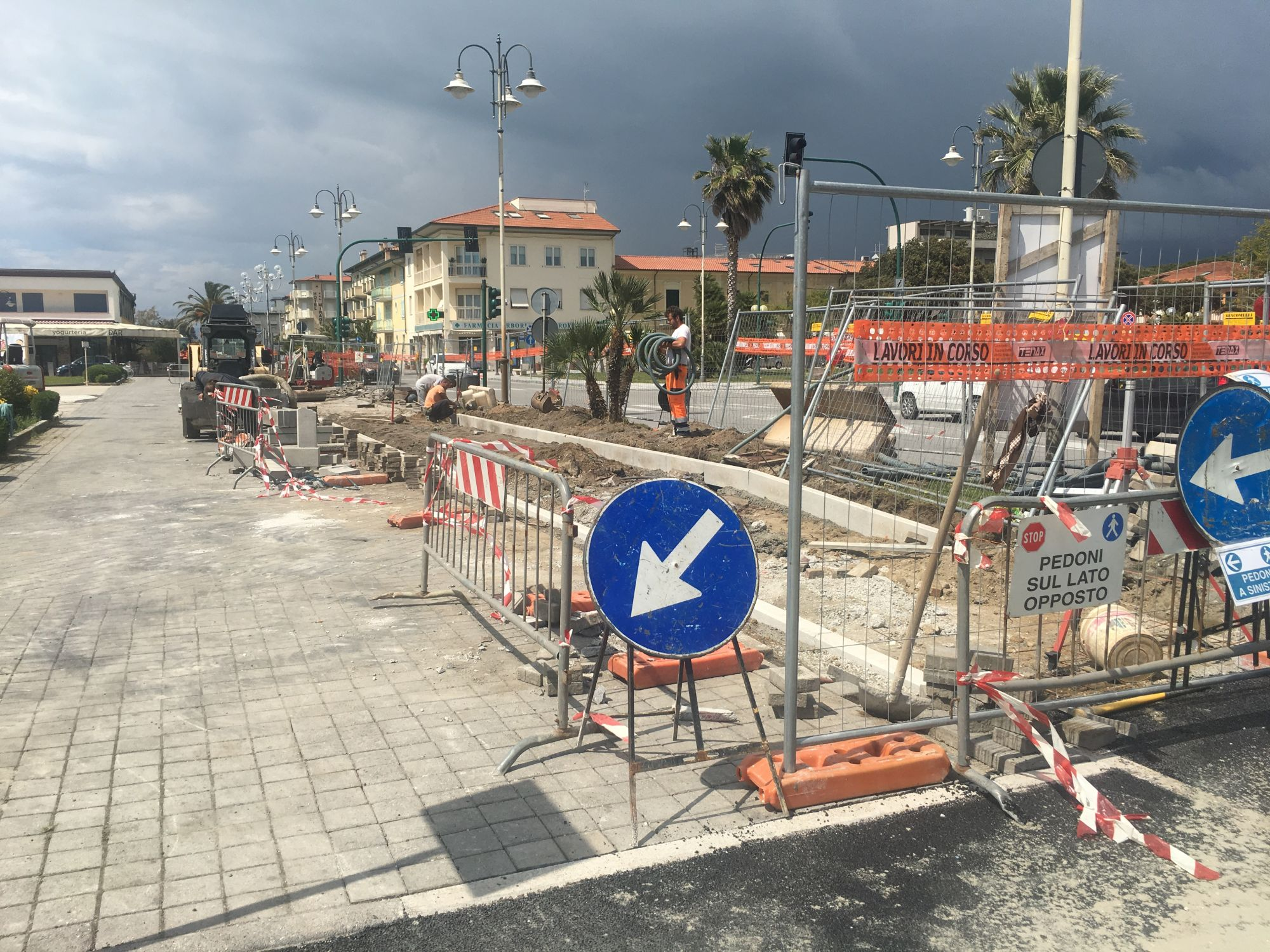 Foto Cantiere Ciclopista Tonfano 1