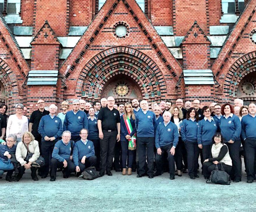 Il Coro Versilia conquista la Norvegia, concerto nella cattedrale di Skien