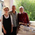 Foto da sx Chiara Celli, Adamo Bernardi, Viviani donazione bozzetto