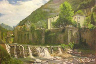 Il torrente Vezza in Seravezza olio 35x45 -2014