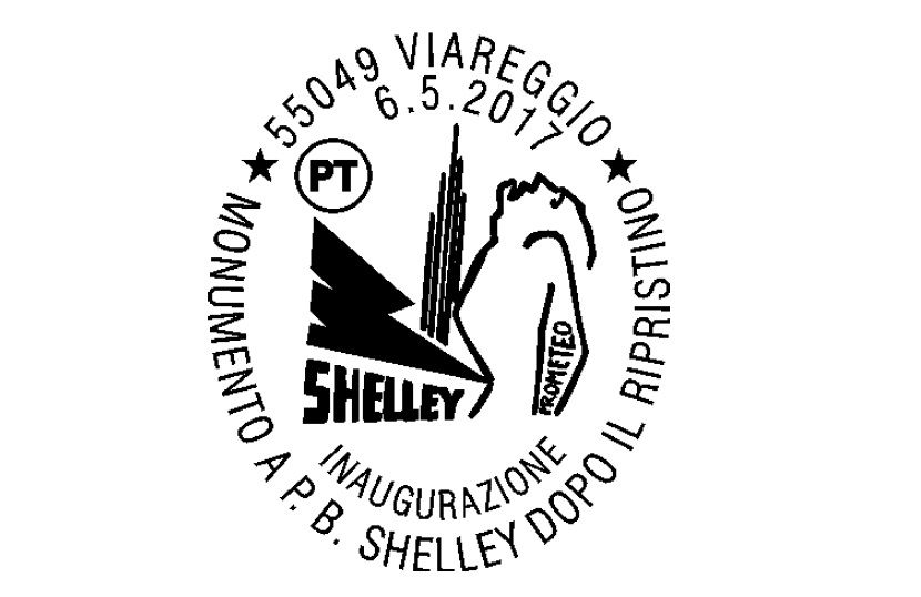 Timbro speciale per l'inaugurazione del monumento al poeta inglese Shelley