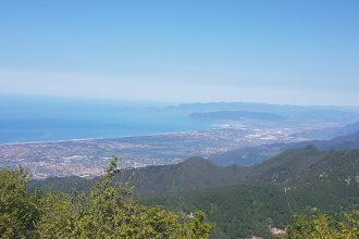 Monte gabberi panorama golfo di La Spezia