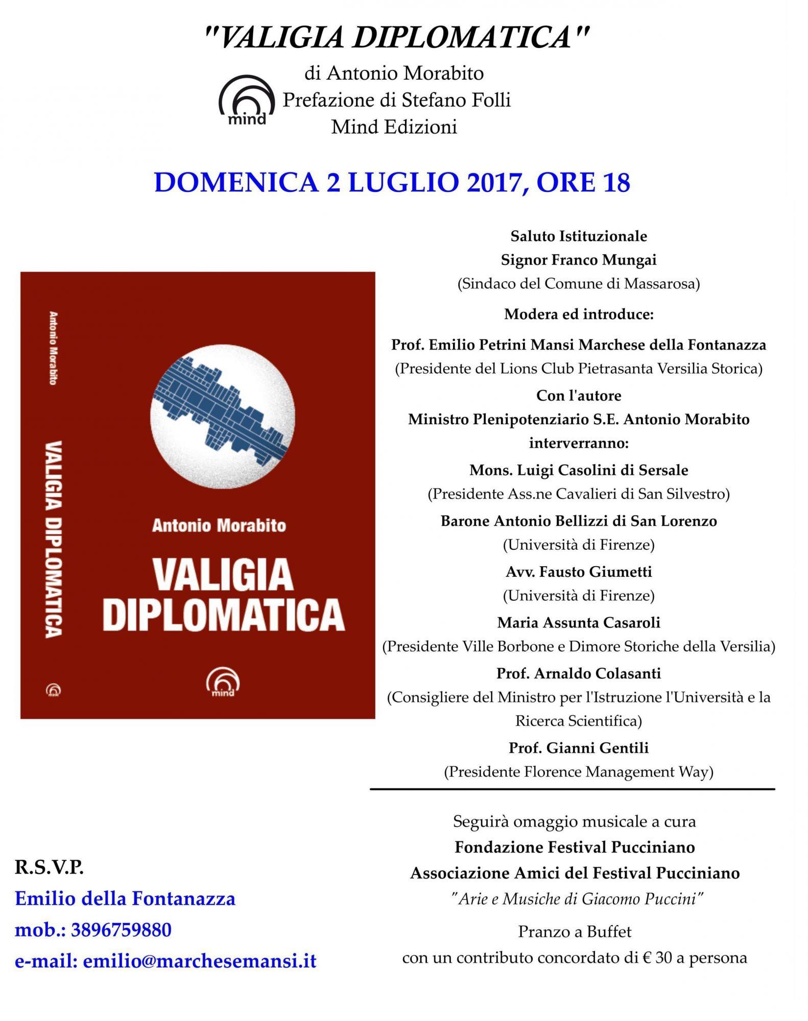 """presentazione del libro """"Valigia Diplomatica"""""""