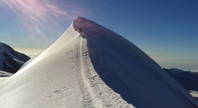 Il Castore escursione impegnativa sul Monte Rosa