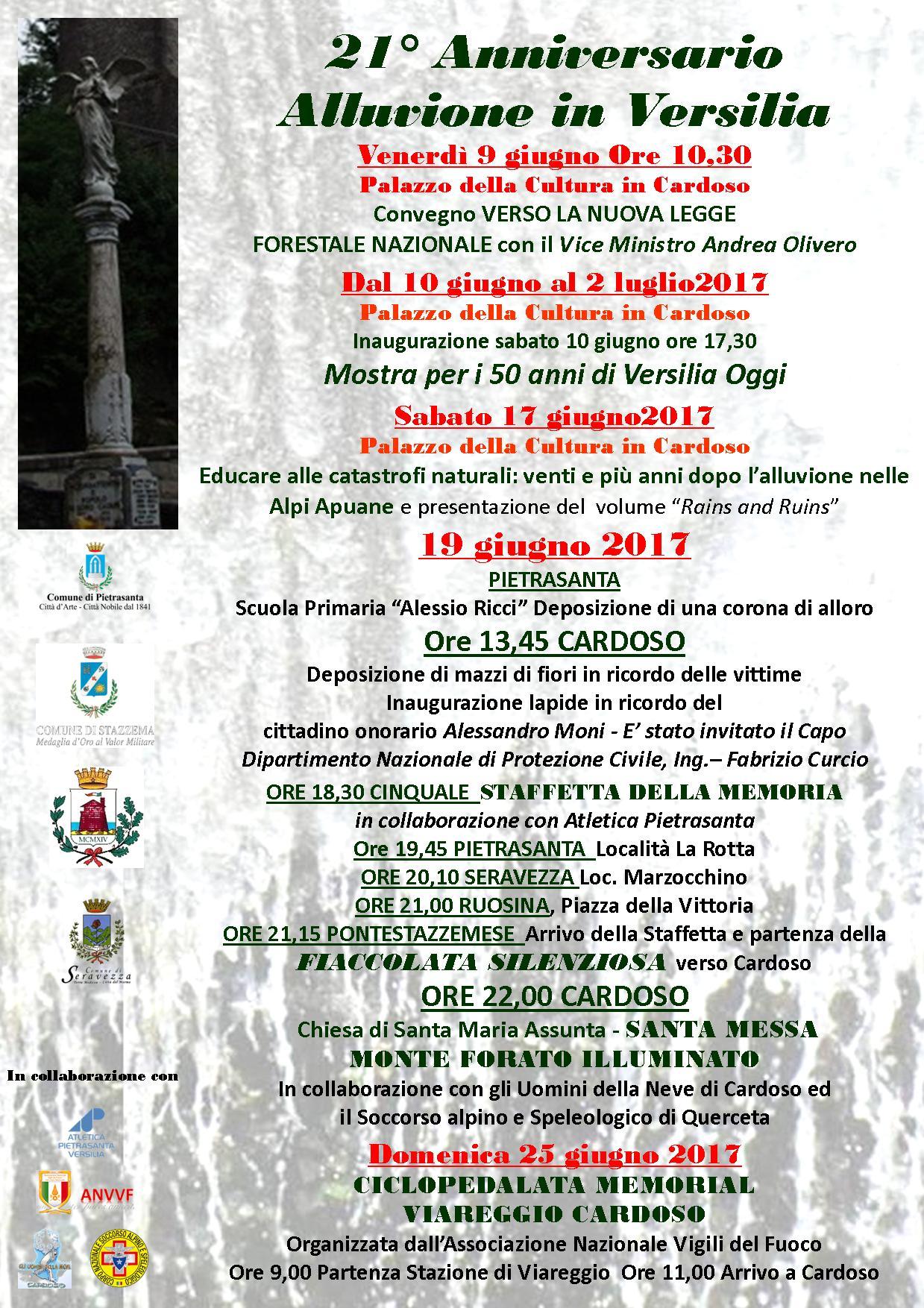 Le celebrazioni a Stazzema in ricordo dell'alluvione di Cardoso
