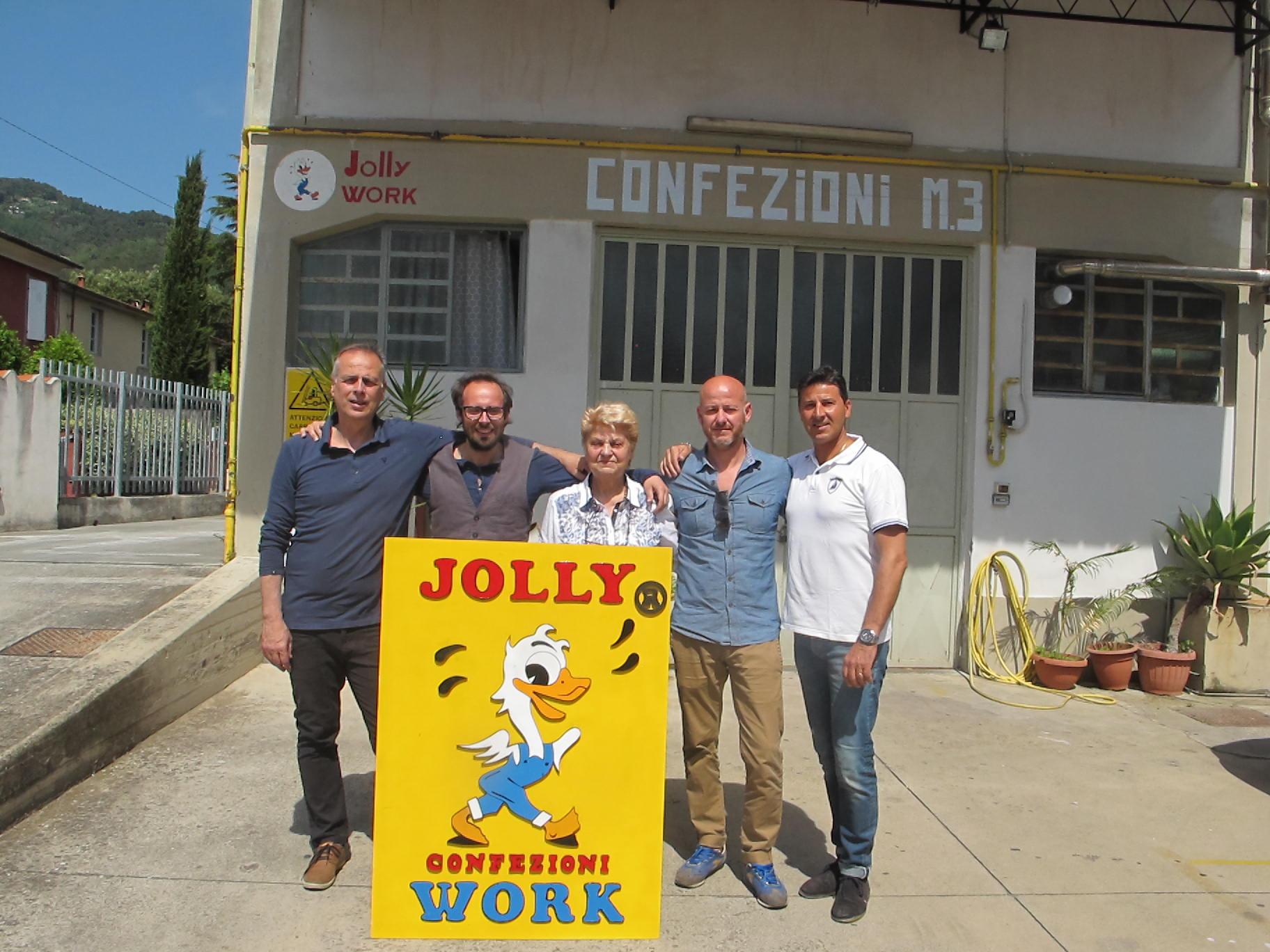 Da Massarosa a Pitti  Immagine Uomo, il marchio Jolly Work rinasce