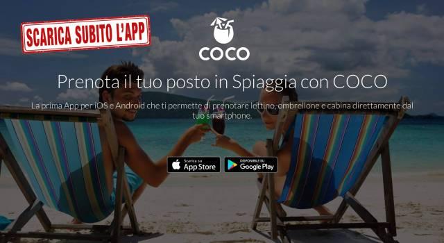 Prenota il tuo posto in spiaggia con COCO, il nuovo booking degli stabilimenti balneari