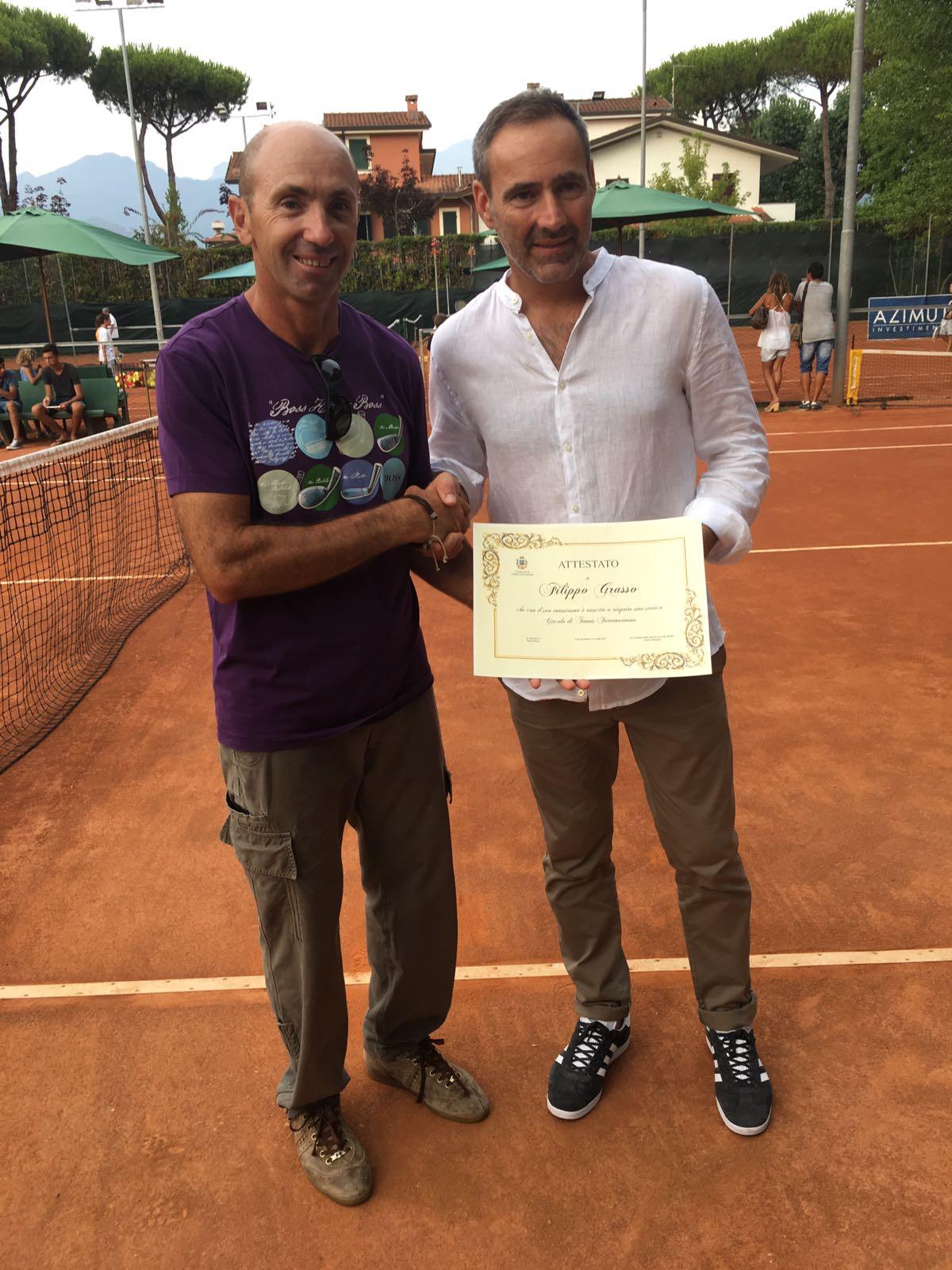 Attestato per la riapertura del Tennis di Roma Imperiale