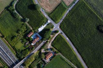 Foto drone Immagine ortofoto