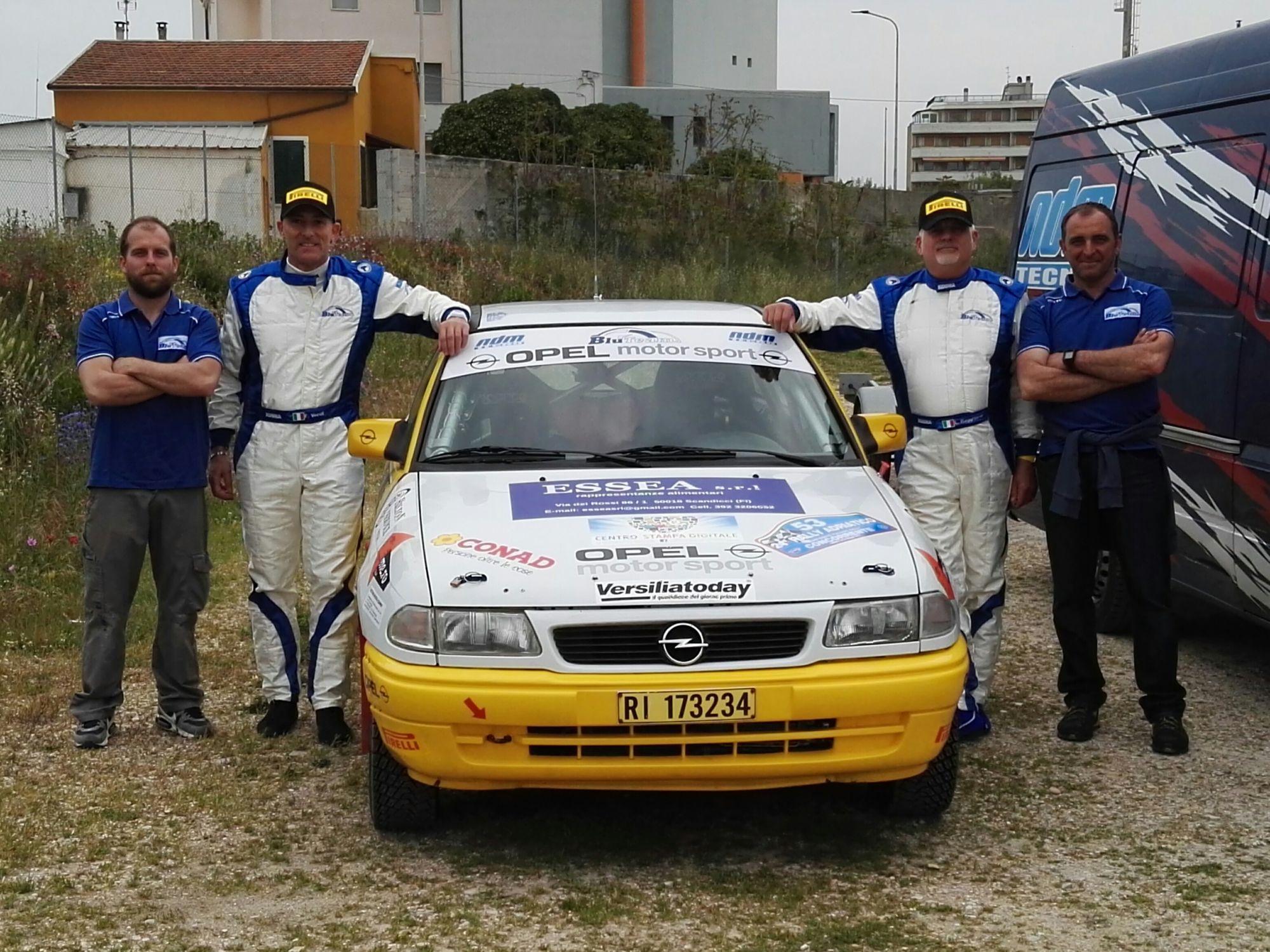 Dalla Versilia a San Marino, il Blu Team Ragghianti-Vecoli ai campionati italiani di rally