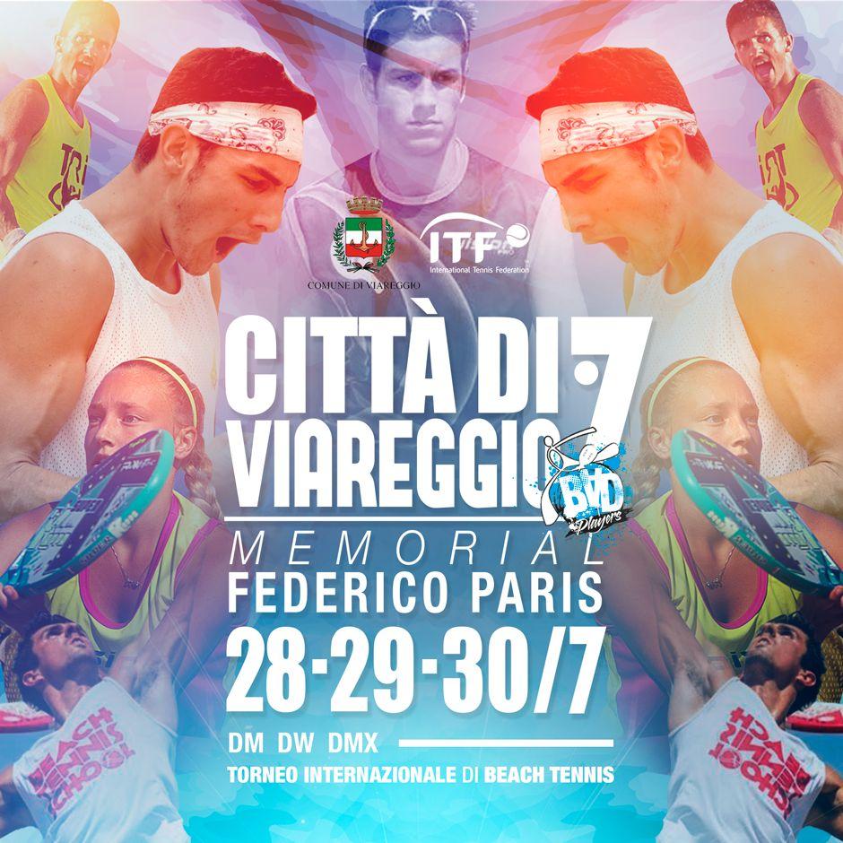 Il grande beach tennis protagonista a Viareggio con il Memorial Federico Paris
