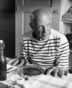 Robert Doisneau Les pains de Picasso, Vallauris 1952