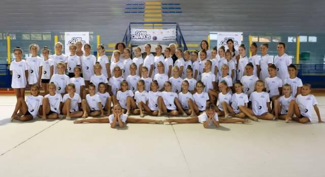 56 giovani atlete per il campus di ginnastica ritmica organizzato dalla Motto
