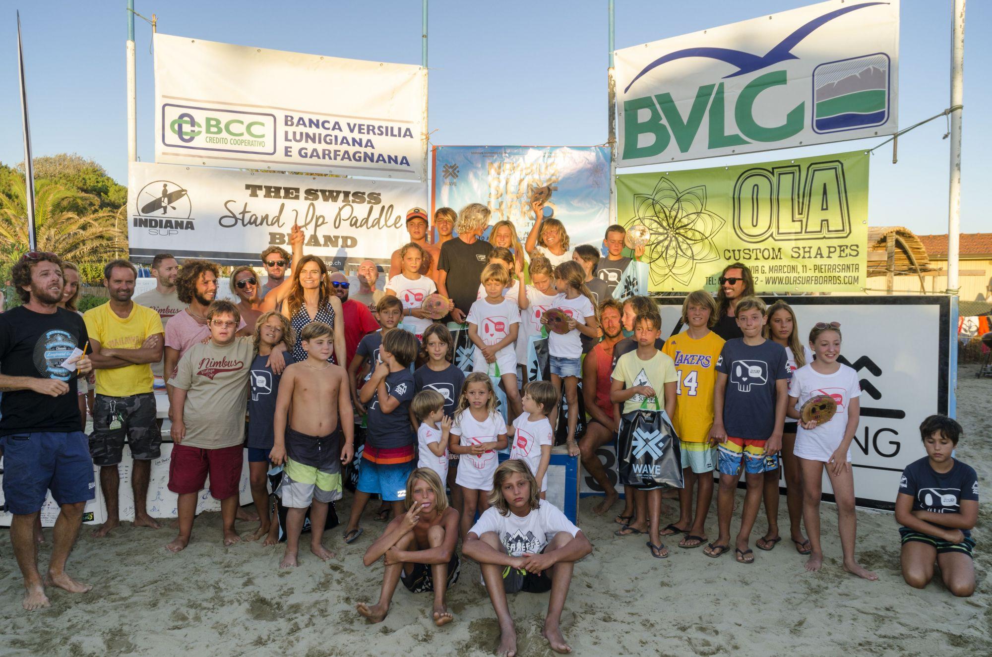 Grande successo del Nimbus Surf Hero 2017, 60 baby surfisti a caccia dell'onda perfetta