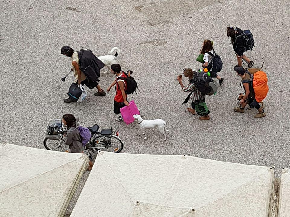 Mallegni contro i punkabbestia che sporcano la città
