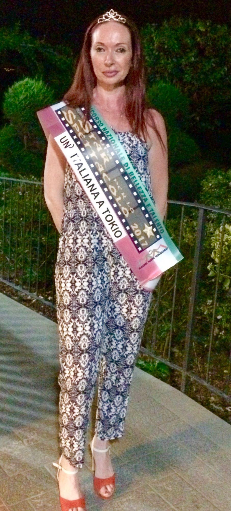 Claudia Fambrini incoronata Miss Italiana a Tokyo