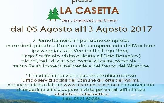 Soggiorno per i cittadini over 65 alla Casetta dell'Abetone