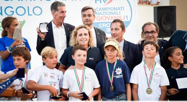 Manuel Scacciati sul podio della Coppa Primavela