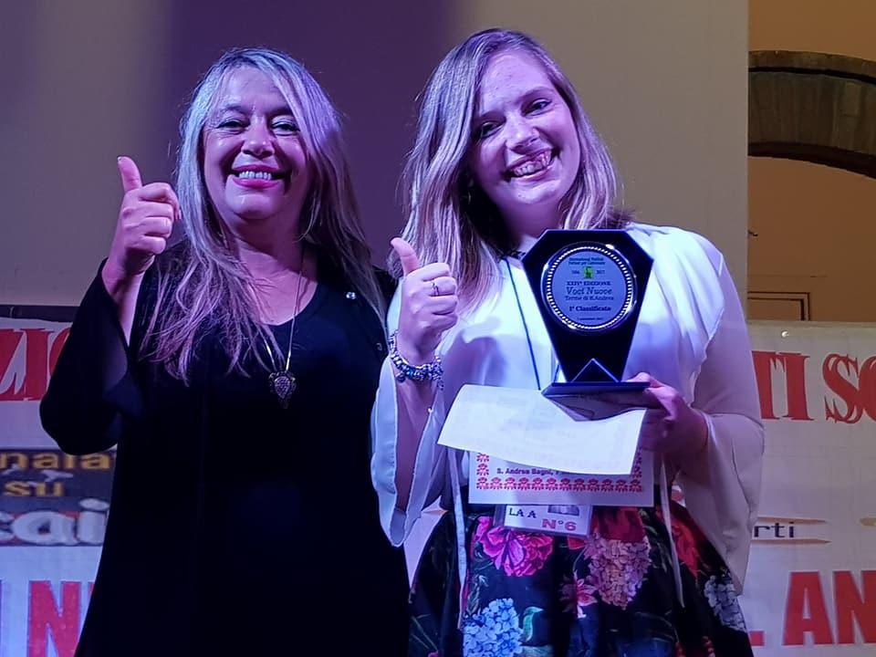 Debora Trasanini di Sarzana vince il 24° Festival Voci Nuove di S.Andrea Bagni