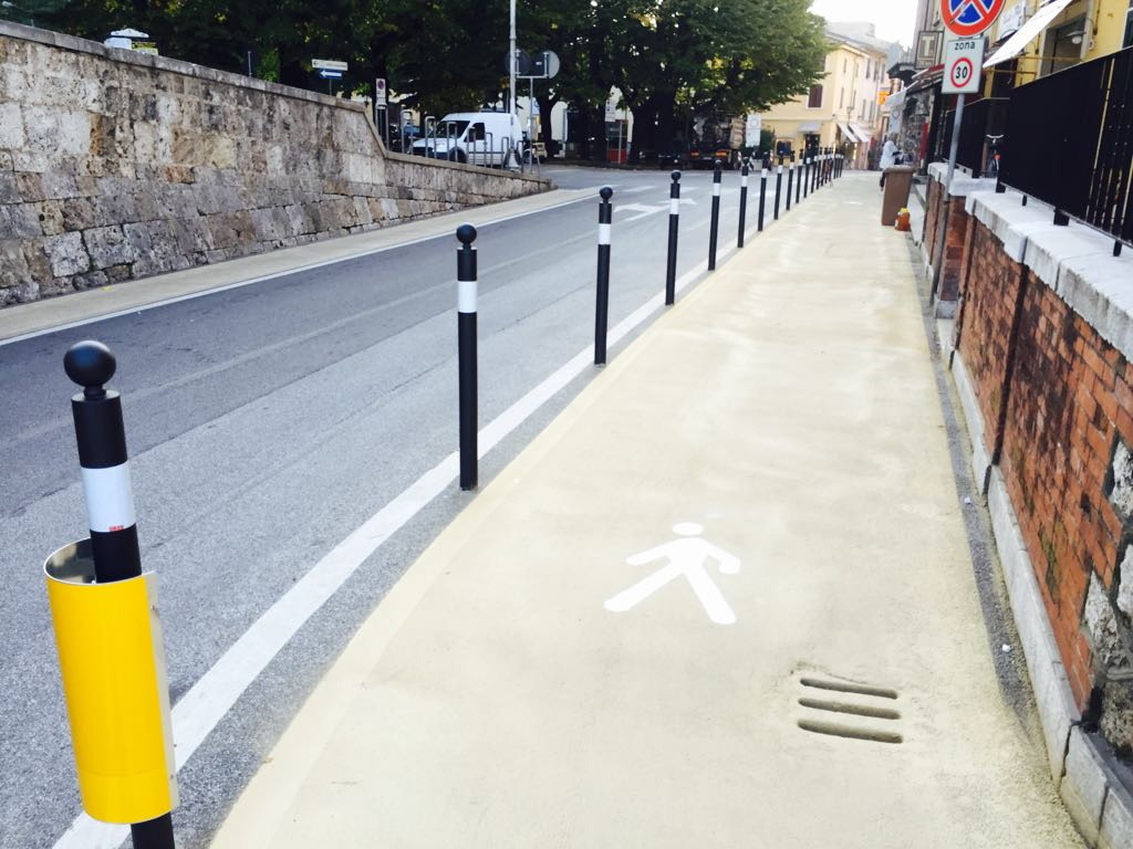 Centro storico ancora più sicuro, nuovi varchi per l'accesso pedonale