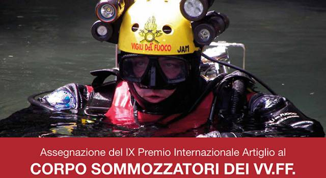 Premio Internazionale Artiglio ai Sommozzatori dei Vigili del Fuoco