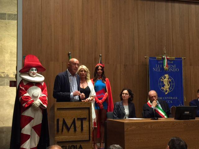 Burlamacco e Ondina Ospiti dei Lucchesi nel Mondo alla Cerimonia di Premiazione