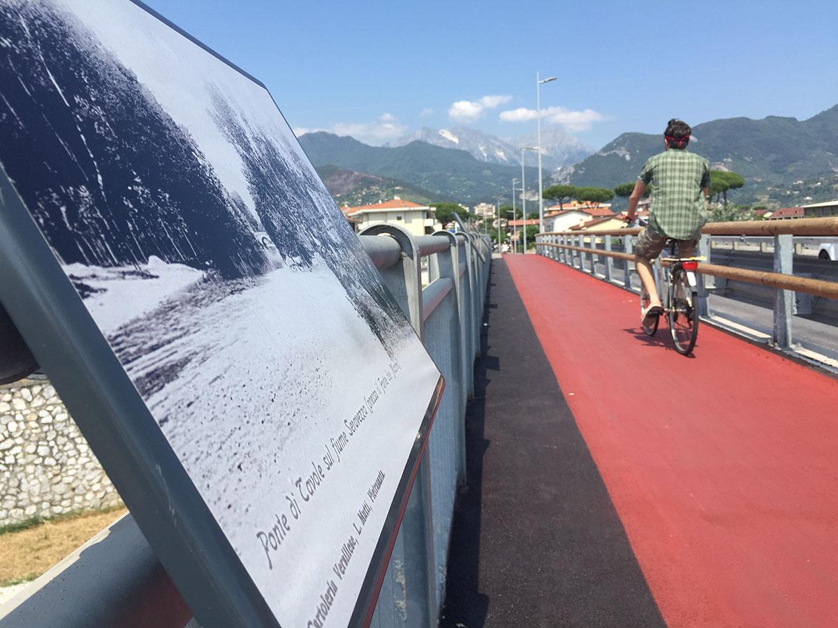 Sopralluogo sulla pista ciclo-pedonale di Querceta