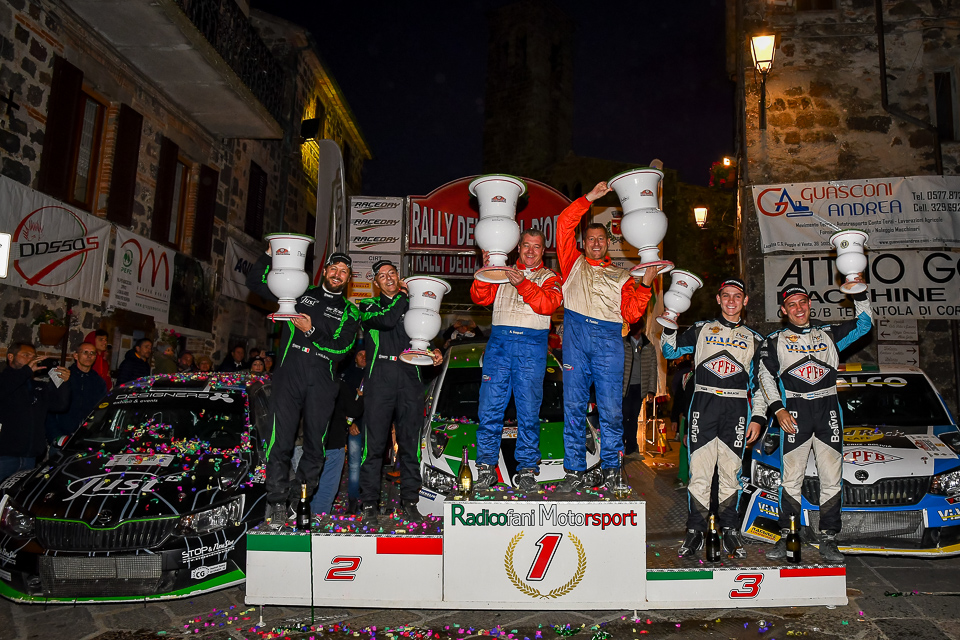 Rally della Val D'Orcia, sesta vittoria per Taddei Porta
