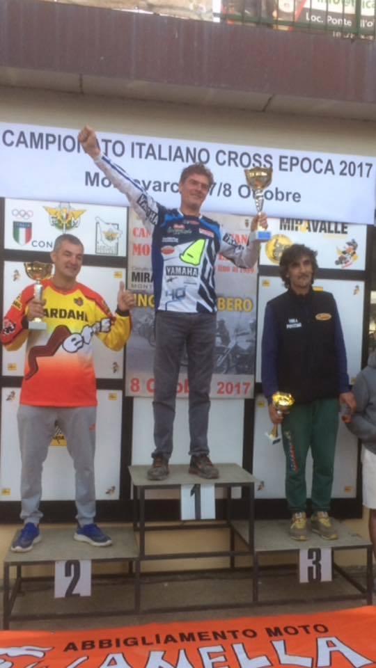 La Perla del Tirreno sul podio del Mx Tricolore d'epoca a Montevarchi