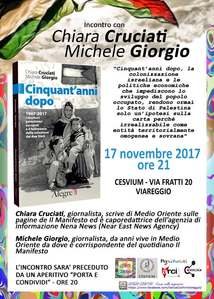 """""""Cinquant'anni dopo, la Palestina"""", incontro con Chiara Cruciati e Michele Giorgio"""