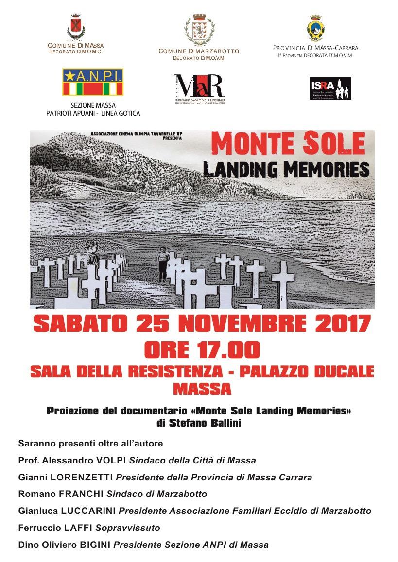 """Monte Sole Landing Memories"""