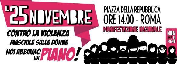 Manifestazione a Roma contro la violenza sulle donne