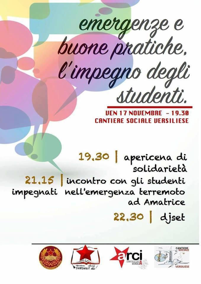 Il Cantiere sociale versiliese incontra gli studenti per sensibilizzare alla solidarietà