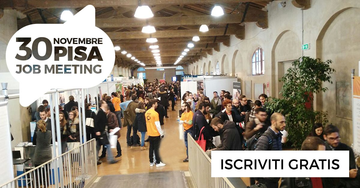 Giovani e lavoro, torna a Pisa il Job Meeting