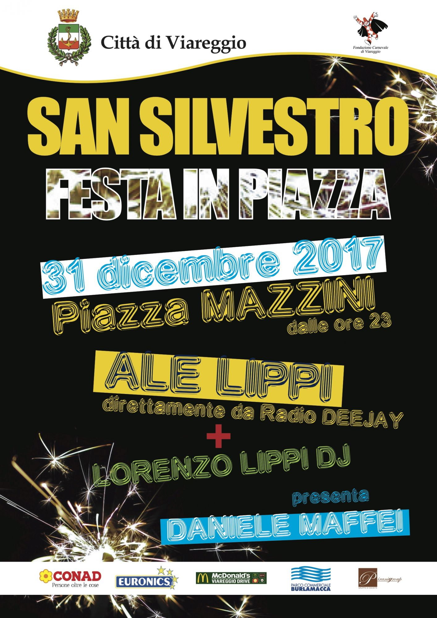 Grande festa di San Silvestro in piazza Mazzini con Ale Lippi