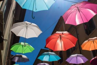 Gli ombrelli di Pietrasanta