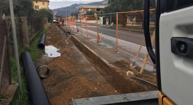 Partiti i lavori per le fognature e la pista ciclo-pedonale a Querceta