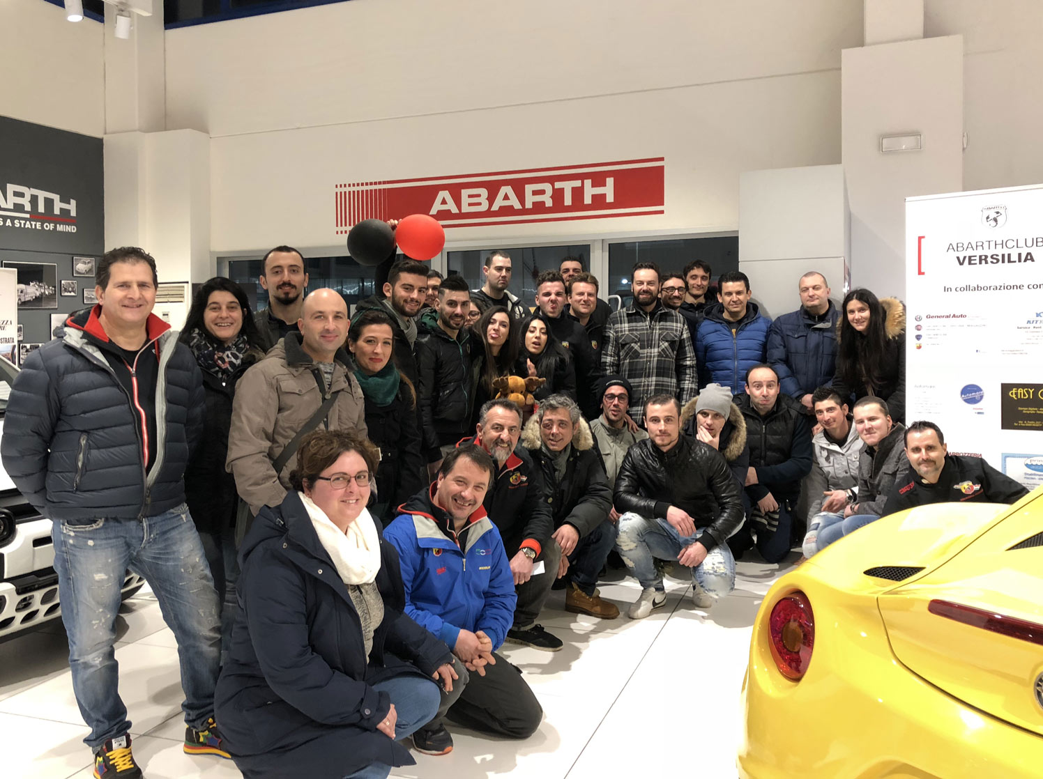 Primo raduno dell'Abarth Club Versilia di Viareggio
