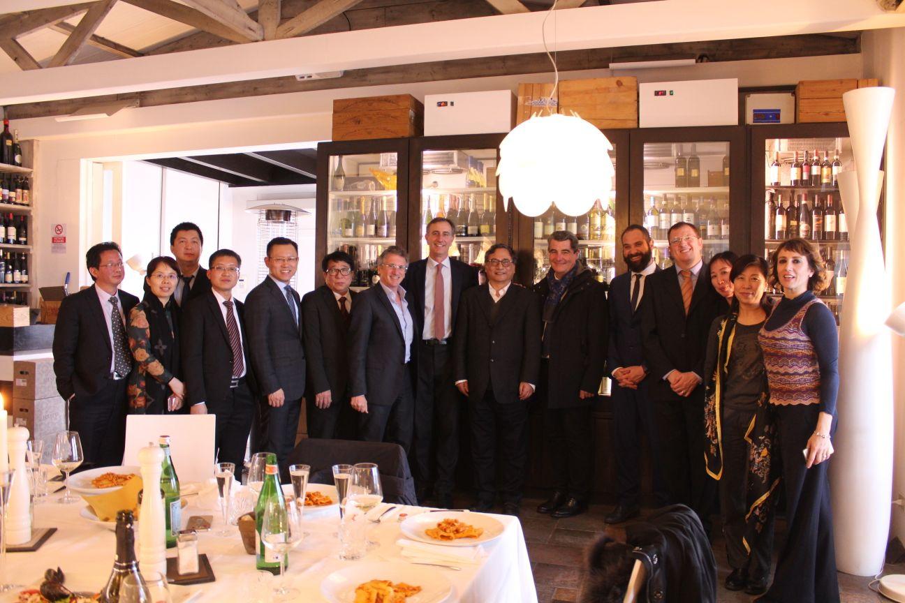 Delegazione cinese in visita al distretto nautico di Viareggio