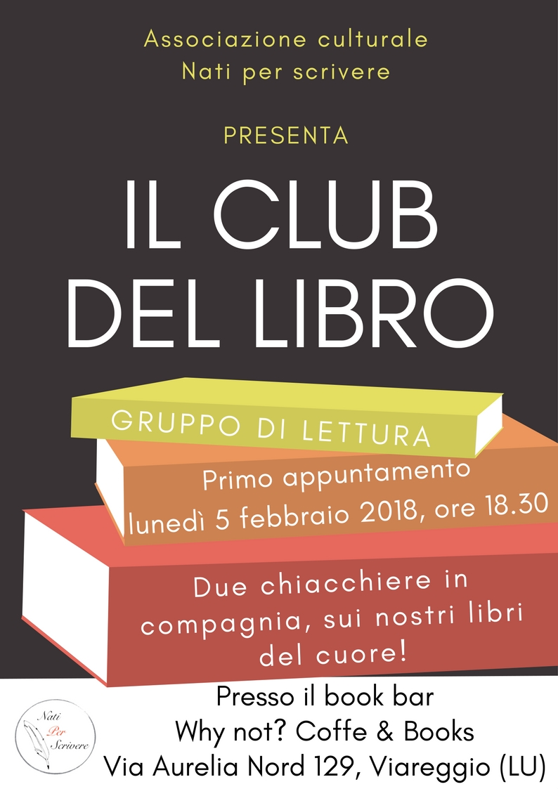 """Nasce """"il club del libro"""", incontri aperti al book bar Why Not?"""
